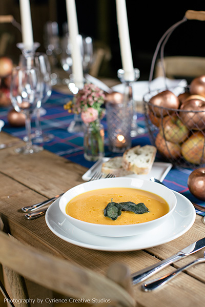 Butternut Squash with Toasted Sage Soup