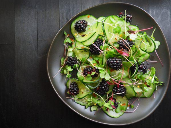 Fresh Cucumber & Blackberry Salad